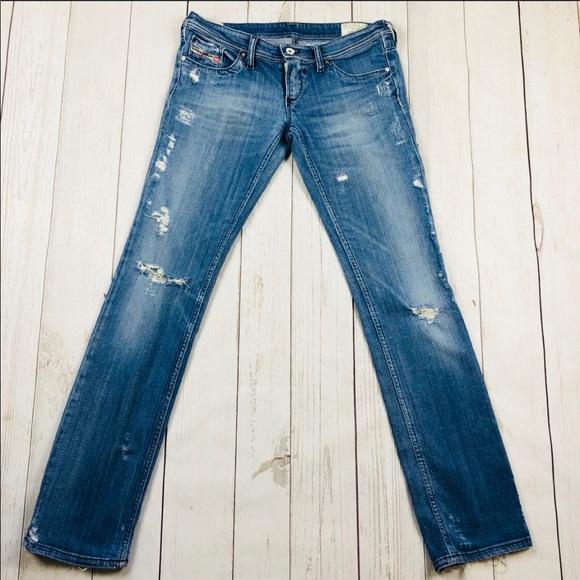 a85a8430 Diesel Denim - 🇮🇹Diesel Lowky Factory Destroyed Jeans Size 27